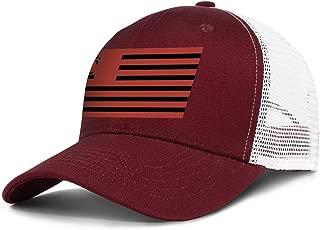 SUNIE Cincinnati-Classic-Bearcats-Flag Red Mesh Baseball Caps Snapback Vintage Ball Hats for Men Women
