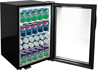KITMA 120 Can Beverage Cooler and Refrigerator - Small Mini Fridge with Glass Door for Beer, Soda, Wine - 3 Cu.Ft 24 Bottle Wine Cooler with 3 Adjustable Shelves