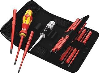 Wera 5003484001 KK VDE 16 extra slim 1 Kraft Form Kompakt VDE Screwdriver Set with Interchangeable Blades, 16 Pieces