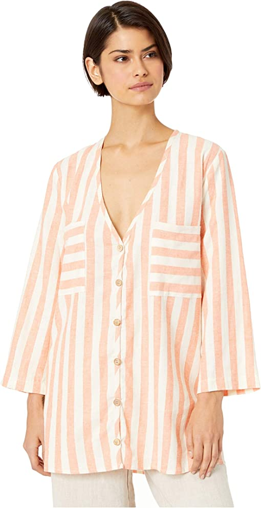 Dreamsicle Stripe Linen