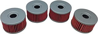 Hity Motor 4 PCS Oil Filter HF137 Fits 2010 SUZUKI DR650SE 650 - All OEM#16510-37440
