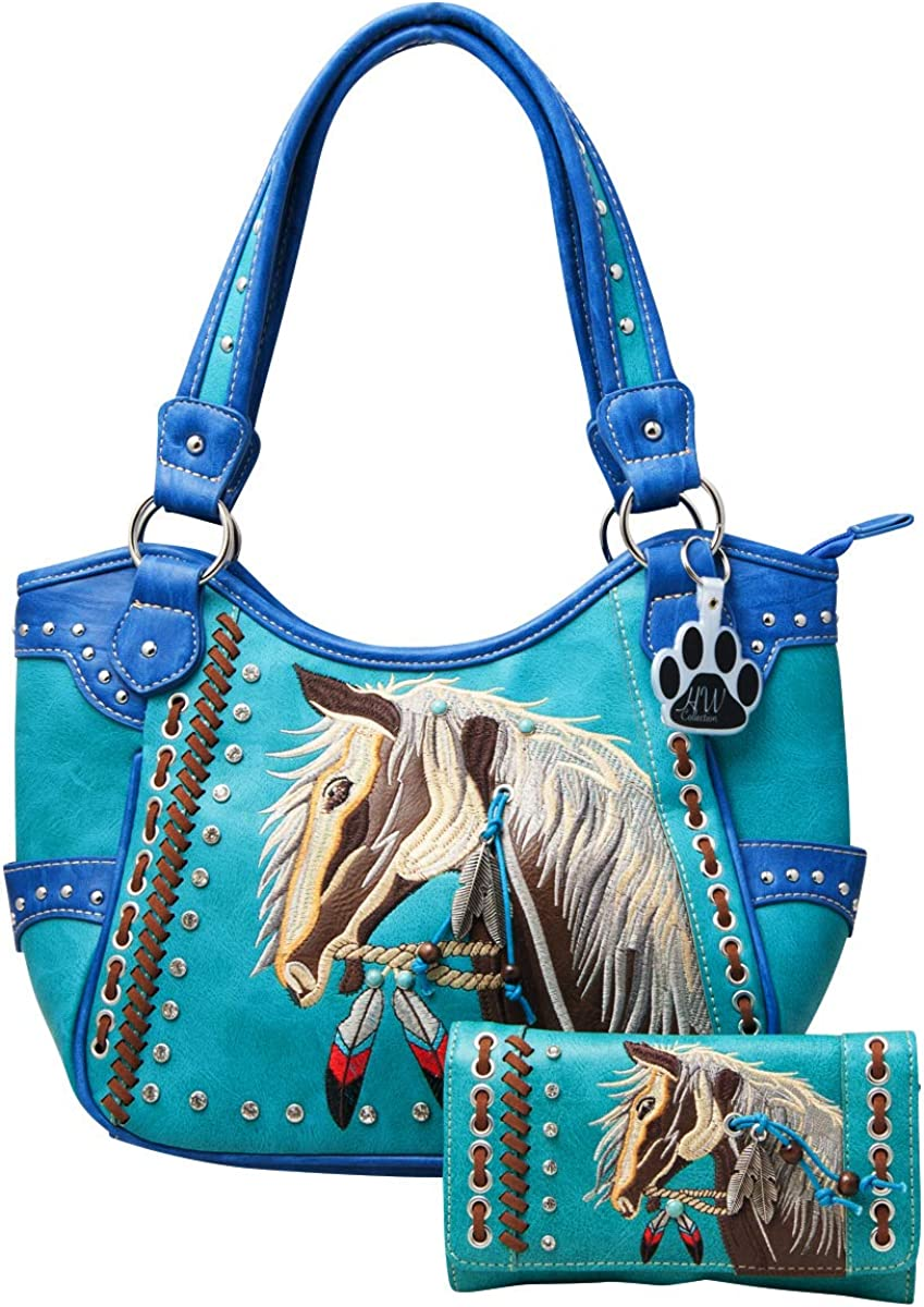 HW Collection Western Horse Handbag We OFFer at cheap prices Purs Carry Concealed Country Max 88% OFF