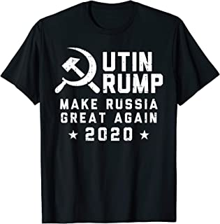 Putin Trump Make Russia Great Again 2020 Sickle Hammer Gift T-Shirt