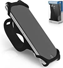 Premium Bike PHONE MOUNT Made of Durable Non-Slip Silicone. Mobile Cellphone Holder / Universal Cradle for All Bicycle Handlebars and 99% of Smartphones: iPhone 8, 7, 6, 5, Samsung Series and MORE