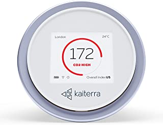 Kaiterra Laser Egg+ CO2: Indoor Air Quality Monitor (Tracks PM2.5, Fine Dust, CO2, Temperature, and Humidity)