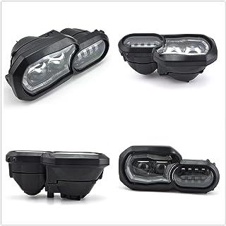 LED faro Delantero para motocicleta alto/bajo Beam con ojos de ángel DRL Asamblea, resistente al agua DC12 - 24 V Negro de repuesto para faros delanteros para F800GS F700GS 2013 ~ 2016 (1 pcs)