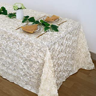 B-COOL 3D Rosette Square Tablecloth Overlay 90