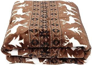 Warm Blanket, Practical Large Thick Double-Sided Fleece Blanket Warm Leg Knee Blanket with Pocket for Elderly(#1)