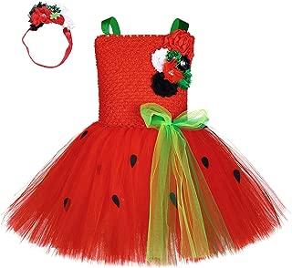 Fruit Watermelon Role Play Dress Costume for Kids Girls Halloween Birthday Cream Rainbow Cosplay Tutu Dress