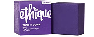 Ethique Eco-Friendly Purple Shampoo Bar for Blonde & Silver Hair, Tone It Down - Sustainable Natural Solid Shampoo, pH Bal...