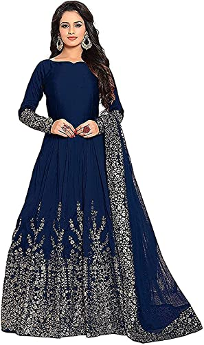 Women s Maxi Dress gown for women Blue Free Size