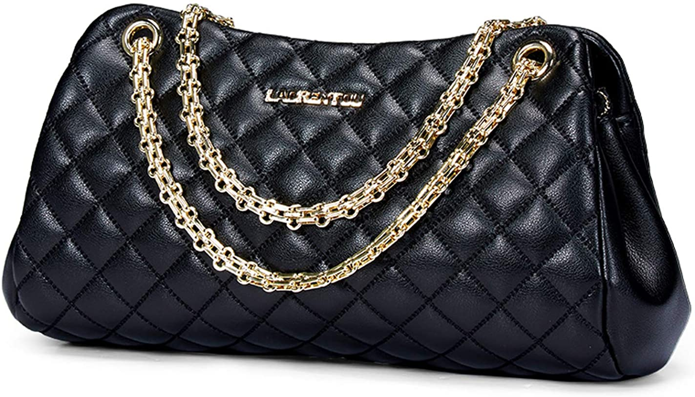 LAORENTOU Same day shipping Cowhide Leather Quilted Purses and for Popular products Handbags Women