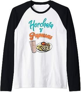 Horchata y Pupusas T-Shirt Camisa El Salvador Shirt Raglan Baseball Tee