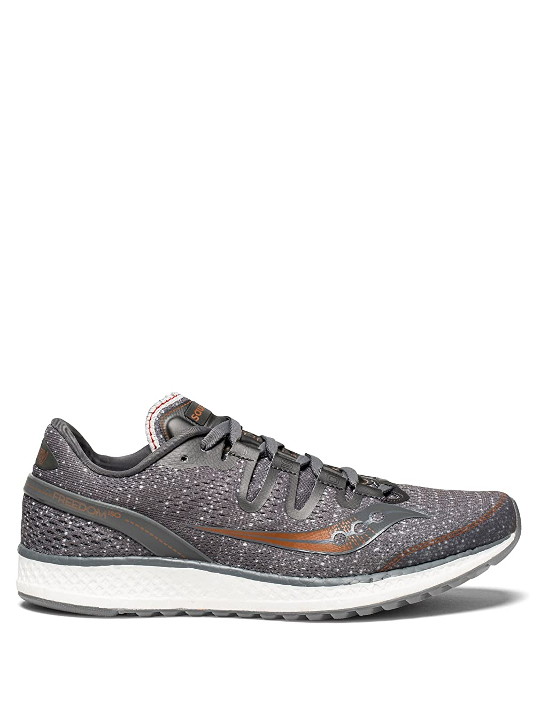 タービン解決する旋回Saucony(サッカニー) レディース 女性用 シューズ 靴 スニーカー 運動靴 Freedom ISO - Grey/Denim/Copper [並行輸入品]