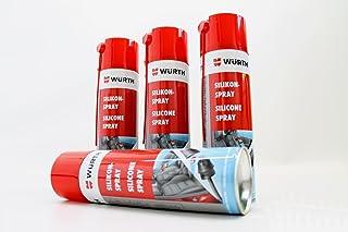 4x 500ml Würth silicona SPRAY plástico goma Lubricante para desmoldar Mantenimiento
