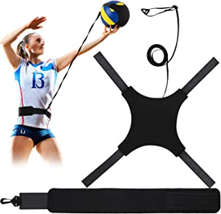Volleyball Training Equipment Aid, Soccer Solo Practice Trainer for Serving, Arm Swings, Setting and Spiking, Solo Serve a...