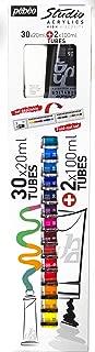 Pebeo Studio Acrylic Set 30X20Ml Tubes + 2X100Ml Tubes