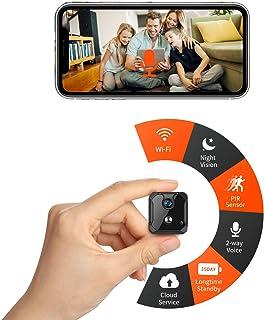 CreateGreat Mini Wi-Fi Camera,Portable Wireless Battery Security Camera,HD 1080P Video,2-Way Audio,PIR Motion Detection,Ni...