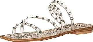 Dolce Vita Women's Izabel Studded Slide Sandal, CRYSTAL VINYL, 9.5