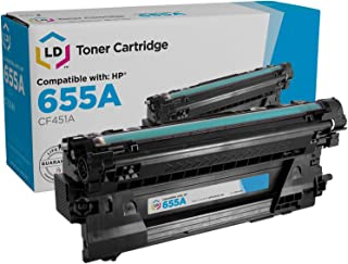 LD Compatible Toner Cartridge Replacement for HP 655A CF451A (Cyan)