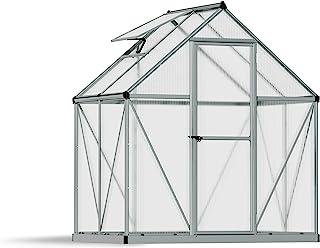 Palram HG5005 Mythos Hobby Greenhouse, 6' x 4' x 7', Silver