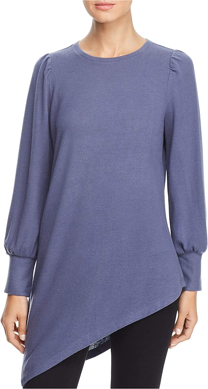 Vince Camuto Womens Asymmetric Hem Pullover Sweater