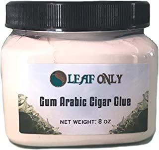 Gum Arabic Cigar Glue for Rolling and Repair - Plant-Based Food & Smoke Safe Adhesive Natural Powder (8oz)