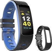 OuiVallée Bracelet connecté écran Couleur MyPulse 2 - Marque Française - Tracker Activité Physique - Bluetooth Capteur...