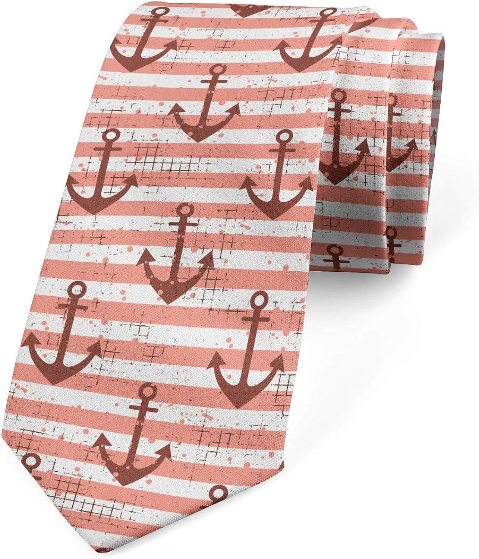 Ambesonne Necktie, Grunge Nautical, Dress Tie, 3.7