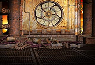 Laeacco 10x8ft Steampunk Theme Vinyl Photography Background Old Factory Rusty Fan Pipelines Gears Parts Backdrop Child Adult Portrait Wedding Shoot Nostalgia Style Studio Props