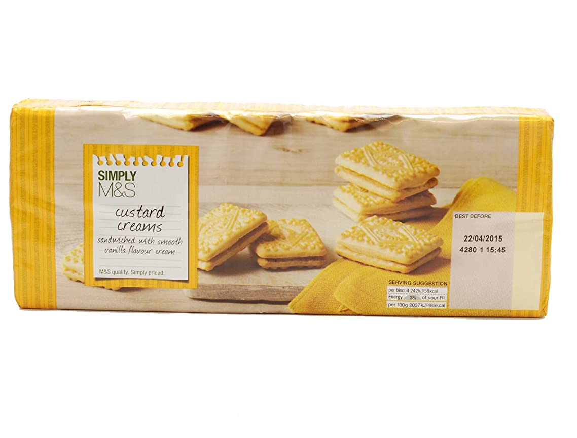 Marks & Spencer - Simply M&S Custard Cream Biscuits 400g (From the UK)