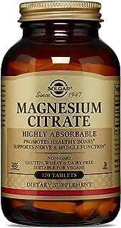 Solgar Citrato de Magnesio, Función Muscular y Reducción de la Fatiga, Apto para Veganos, 120 Comprimidos