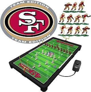 ألعاب تيودور سان فرانسيسكو 49ers NFL لعبة كرة القدم الكهربائية، 25.5 × 14.5 × 2 بوصة