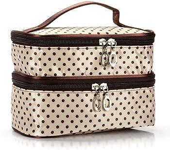 Rateim 2 Tier Travel Cosmetic Organizer Case