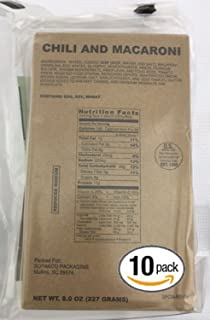 Pack of 10 SOPAKCO Sure-Pak MRE Reduced Sodium Emergency Ration Meals - Ready to Eat Variety Factory Sealed