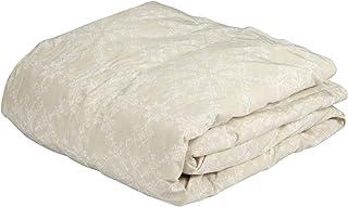 東京 西川 ダウンケット (羽毛肌掛け布団) シングル ホワイトダックダウン70% 薄手 年間使える モチーフ柄 ベージュ KE00005002C1