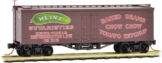 Micro-Trains MTL N-Scale Heinz Series Car #9-36ft Wood Reefer Baked Beans #312