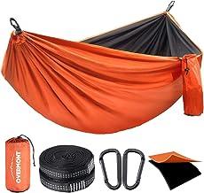 Overmont Dubbele Lagen Camping Hangmat Duitse TUV Gecertificeerde Draagbare Outdoor Hangmat Lichtgewicht voor Backpacking ...