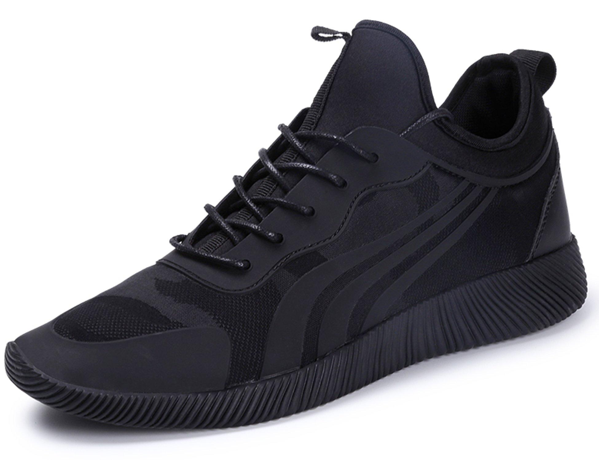 IIIIS-F Zapatillas Running para Hombre Aire Libre y Deporte Transpirables Casual Zapatos Gimnasio Correr Sneakers Negro 39 EU Adecuado para Longitud del pie 23.7-24.1cm: Amazon.es: Deportes y aire libre