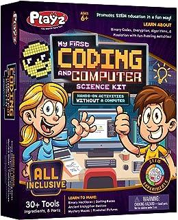 Playz اولین کیت کدگذاری و علوم رایانه ای من - درباره کدهای دودویی ، رمزگذاری ، الگوریتم ها و پیکسل شدن از طریق فعالیت های سرگرم کننده گیج کننده بدون استفاده از رایانه برای پسران ، دختران ، نوجوانان ، کودکان اطلاعات کسب کنید