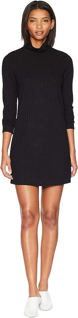 Sweater - Like Rib Dress with Turtleneck KS0K8308