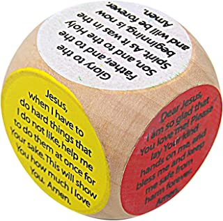 Religious Children's Colorful Prayer Cube, 1 1/2 Inch