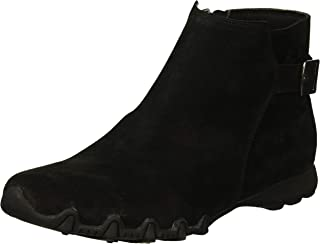 Women's Bikers-Patrol-Quarter Buckle Bootie with Inside Zipper Ankle Boot