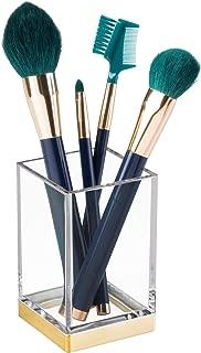 iDesign Clarity Plastic Tumbler Cup, Holder for Makeup Brushes, Toothbrushes, Glasses, Brushes on Bathroom, Vanity Countertops, College Dorm, Bedroom Desks, 2.5