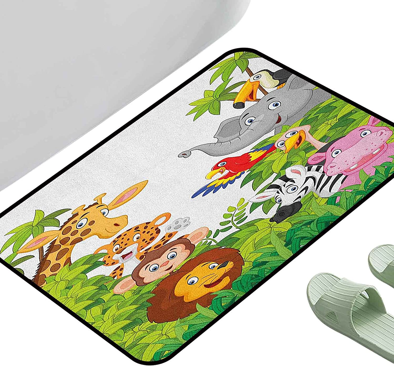Rug Bathroom Mat Ranking TOP12 Nursery Cartoon Arlington Mall Animals Style Jungle Safari Zoo