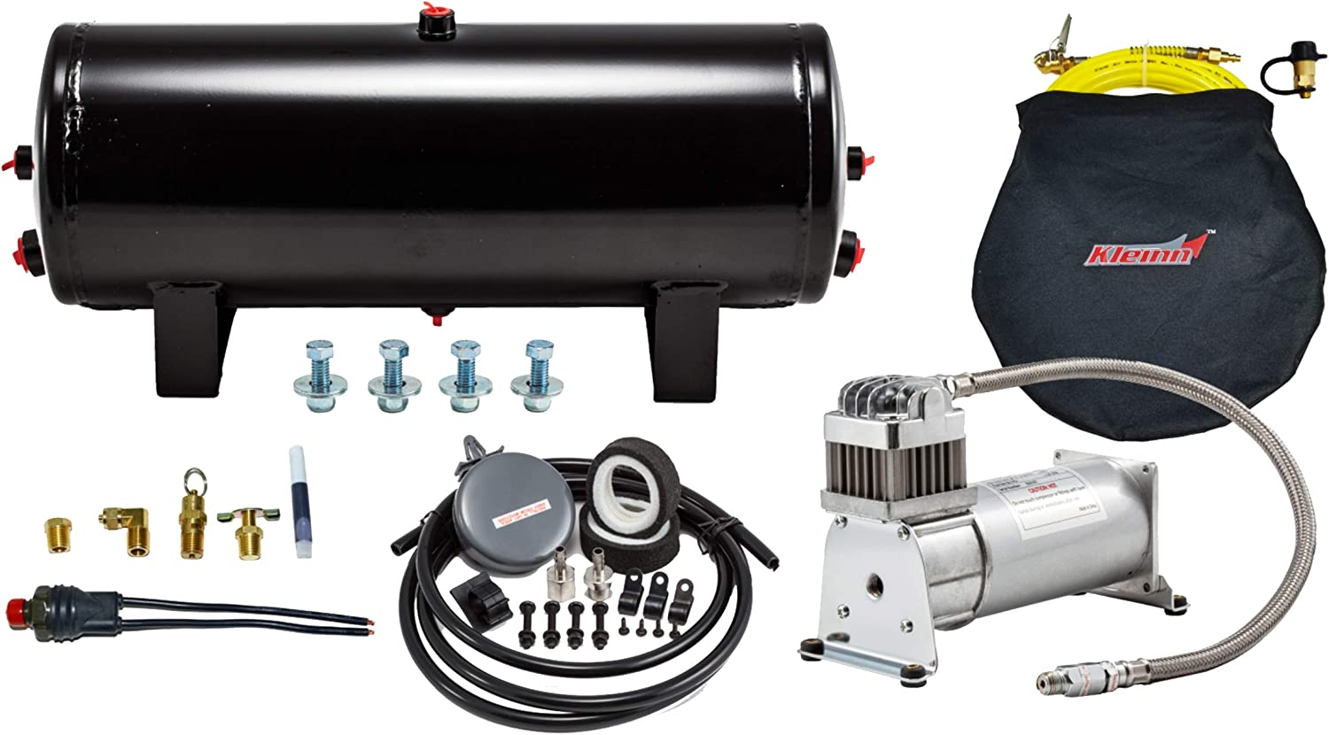 Kleinn Air Horns 6354 24-Volt 150 PSI Heavy Duty Sealed Air System With Compressor, 3 Gallon Tank and Hardware