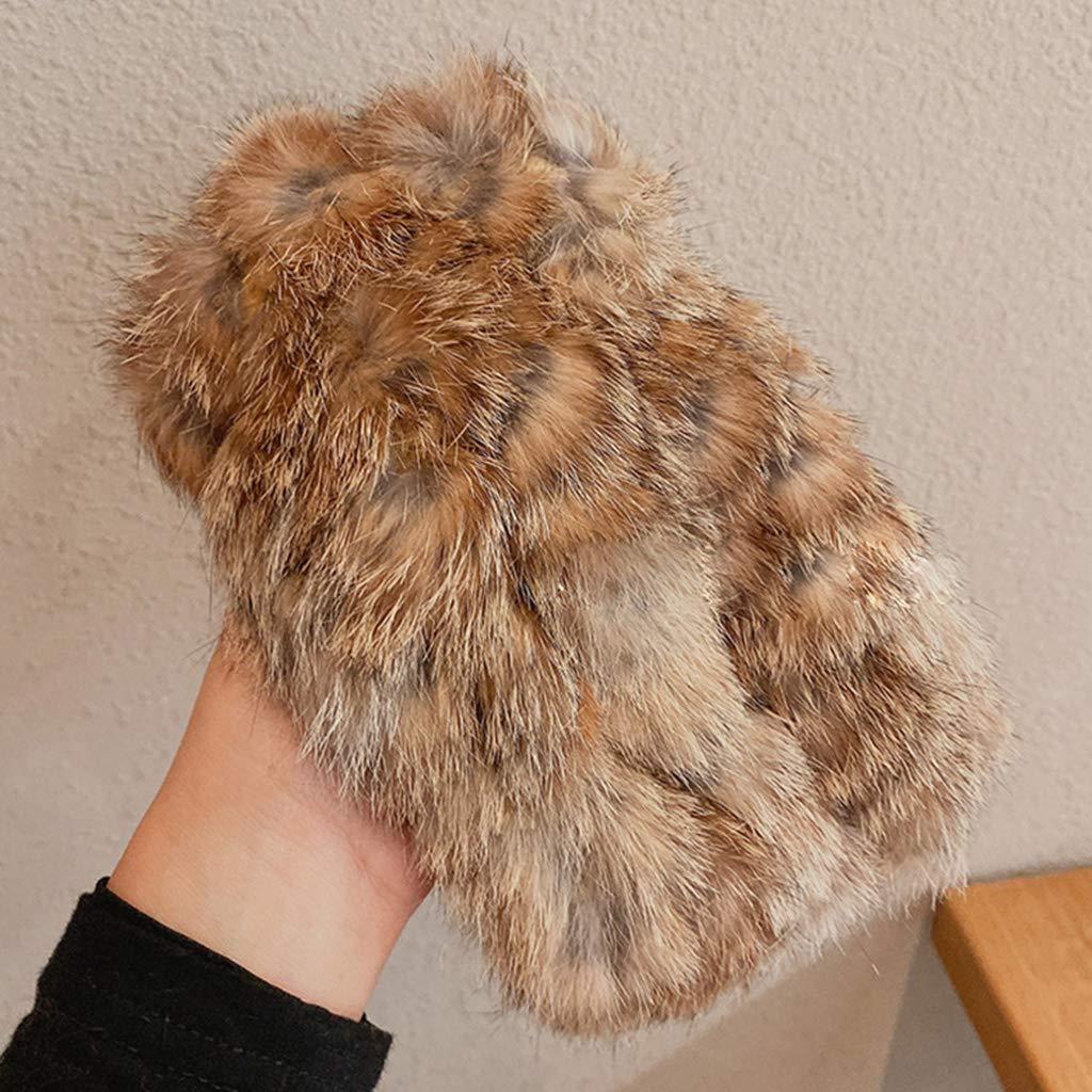 Kingjinglo Vintage Winter Thick Fuffy Wide Headband Cold Weather Stretch Ear Warmer Earmuff