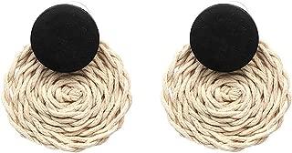 Handmade Rope Weave Round Drop Earrings Women Bohemian Dangle Earrings Party Costume Jewelry Bijoux