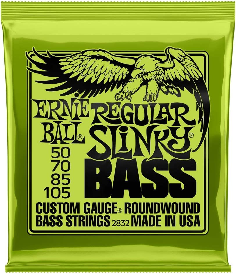 Cuerdas para bajo eléctrico Ernie Ball Regular Slinky Nickel Wound - 50-105 Gauge