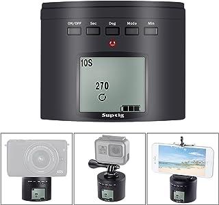 Suptig - Soporte de trípode para cámara de fotos eléctrico 360 grados cabezal trípode para iPhone Samrtphone Cámara digital y Cámara de acción.